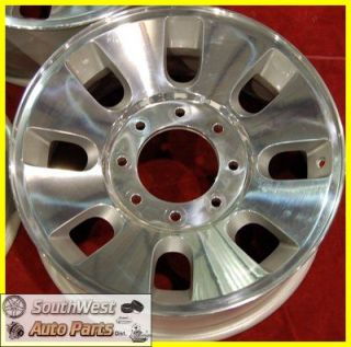F350 Super Duty 18 Polished Take Off Wheels Factory Rims 3690