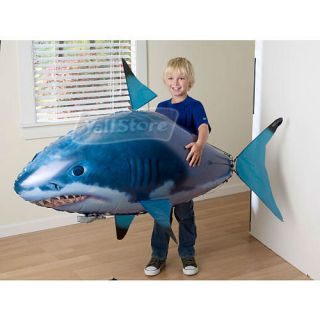 New Air Swimmers Inflatable Flying Shark Clown Fish Remote Control Toy