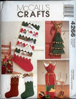 Christmas Holiday Stockings Gift Bag Card Holder Pattern Factory Folds