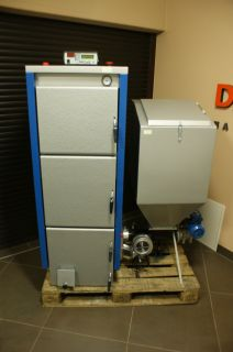 Wood Burning Boiler Stove Multi Fuel Pellet PBI 19KW