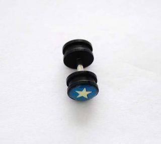 Pair Steel 1g Fake Cheater Ear Plugs Earrings 14g F372