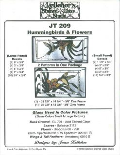 Flowers stained glass pattern only JT 209 TWO Patterns in one