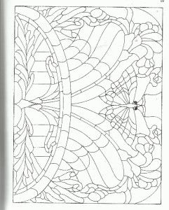 Art Nouveau Stained Glass Make Your Own Pattern Book 100 Designs