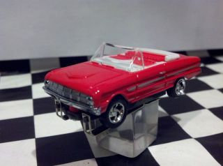 63 Ford Falcon Convertible Red T jet Ho Scale Slot Car Chassis Cool