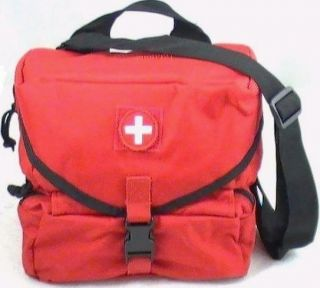Red Molle EMT EMS Combat Medic GI Style School 1st Aid Kit 132 pc+ NEW