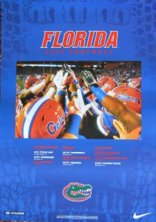 The New 2012 Florida Gators Football Schedule Poster