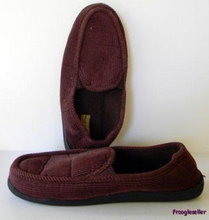 Falls Creek mens slippers shoes Large sizes 11   12 brown fabric