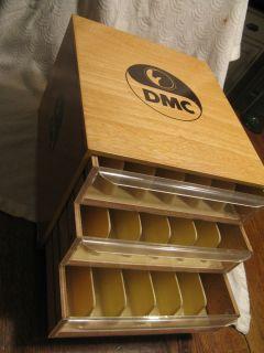 DMC Embroidery Floss Wood Cabinet Storage Box