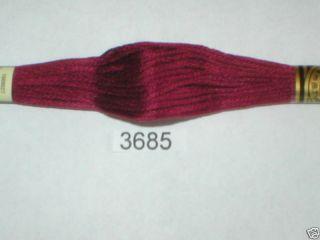 3685 DMC Hand Embroidery Floss Thread 100 Cotton