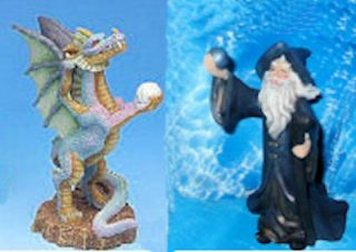 Dragon Wizard Aquarium Ornament Fish Pet Free Gifts