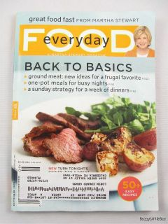 Stewart Food Everyday Magazine September 2009 Back to Basics