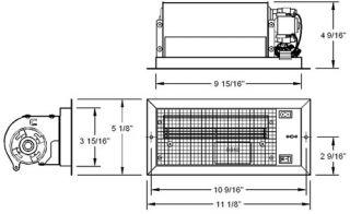 Metal Register Booster Heating Duct Fan 4x10 Fits Flush