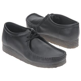 Mens Clarks Wallabee Low Black Leather