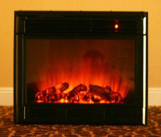 GTC New Black Electric Firebox Fireplace Insert Room Heater IFL 23R 23