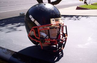 Riddell Black Full Size Football Helmet w/ Face Mask & Strap