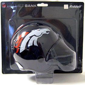 Denver Broncos Riddell NFL Mini Football Helmet Bank