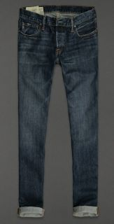 Abercrombie & Fitch Mens Jeans A&F SKINNY JEAN Medium Wash Denim 34/32