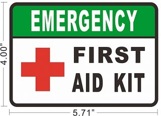 First Aid Kit Decals Vinyl Sticker Bus Taxi Sign Store Emergency