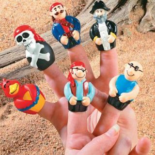 12 Pirate Finger Puppets Dozen Birthday Party Favors