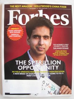new forbes magazine november 2012 salman khan   1 trillion dollar