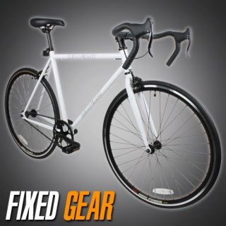 54cm Track Fixed Gear Bike Fixie Single Speed Road Bicycle White Color