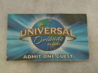 Universal Studios Orlando Florida 1 Day Park Ticket