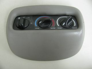 Ford Expedition Overhead Console Rear Heater Controls