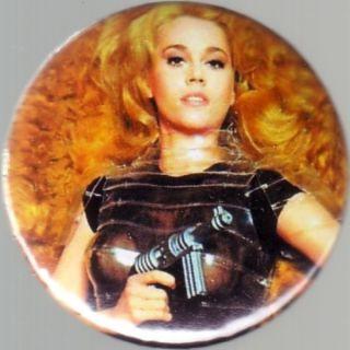 Barbarella Jane Fonda 1 25 Pin Button Badge Magnet 1968 SF Roger