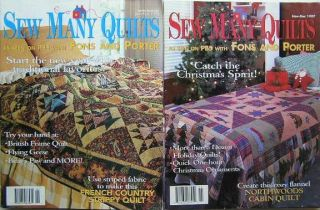 Fons Porter Love of Quilting Sew Many Quilts Magazine Pattern Lot