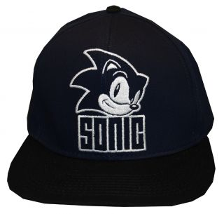 Sonic The Hedgehog SEGA Face Video Game Snapback Flat Bill Hat Cap