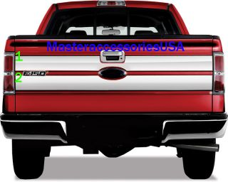 09 11 Ford F150 TAILGATE TRIM MOLDINGS STAINLESS STEEL CHROME ACCENT 2