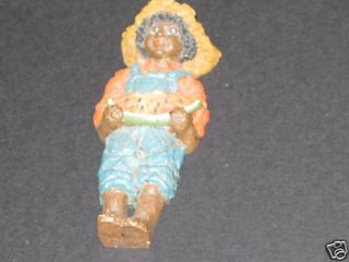 June McKenna Early African American Boy Flat Ornament
