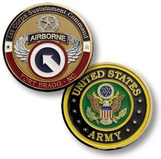 Army Fort Bragg 1st Corps Sustainment Challenge Coin