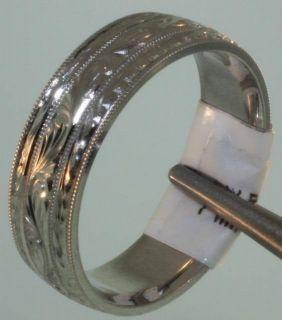Palladium Comfort Fit Wedding Band Ring 7mm Vintage