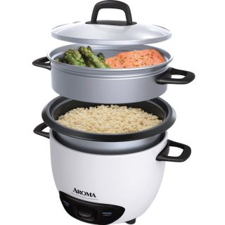 14 Cup Rice Cooker Food Steamer Steam Meat Fish Vegetable Aroma Arc