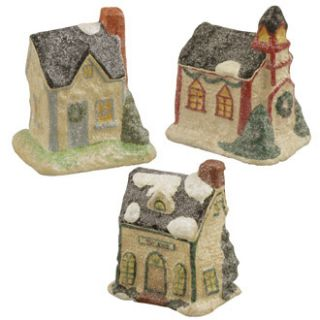Bethany Lowe Set 3 Christmas Cottages Teena Flanner