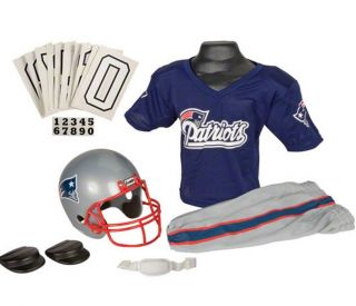 New England Patriots Kids Youth Football Helmet Uniform Set