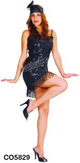 Roaring 20s Sparkly Flapper Girl Fancy Dress Costume Size 12/14