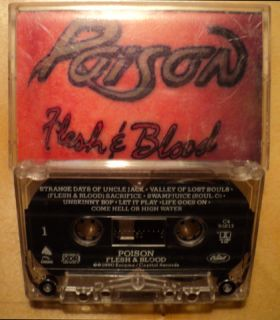 Cassette Tape Poison Flesh and Blood Rock Band Concert Group