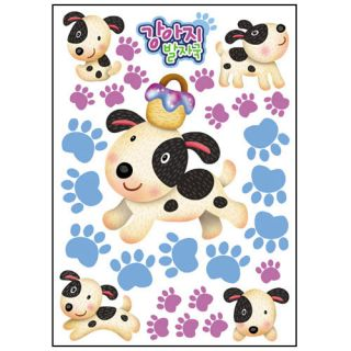 Dog Footprint Kid Wall Removable Accent Home Decals Stickers 228