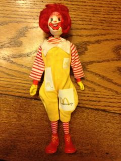 Remco 1976 McDonalds Ronald McDonald Clown 8 Action Figure Doll Ad