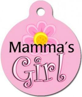 Mama's Girl Pet ID Tag Custom Text Dog Cat