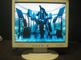Acer 17 Inch Flat Panel LCD Computer Monitor White VGA Speakers Tested