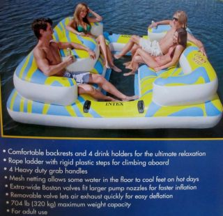 Intex Oasis Huge Lounge Inflatable Pool Island Tube Raft Floats Water