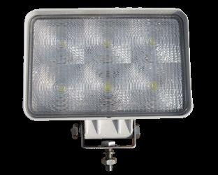 LED High Powered White Body Aluminium Flood Lamps 2 x BL 161WM
