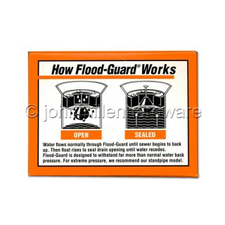 Floor Drain Flood Guard, For 2 Drains Prevent Basement Flooding