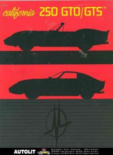 1980 Ferrari California 240Z Mcburnie Kit Car Brochure
