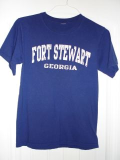 US Army Fort Stewart T Shirt Adult Small Military