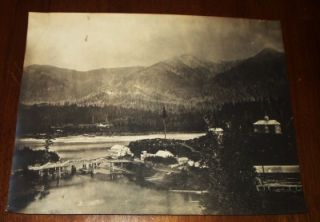 FORT LUGENBEEL Cascade Rapids Columbia River WA Antique 19th C. Large