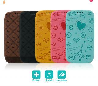 Case Galaxy S3 Flip Flip Pattern Jelly Cover s III I9300